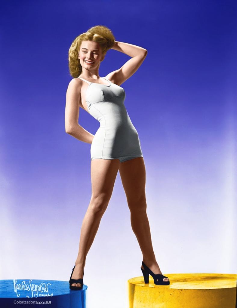 Colorized Cloris Leachman - Miss America pageant
